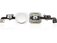 MicroSpareparts Mobile Home Button Assembly Silver MOBX-IP6-INT-5W - eet01