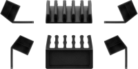 MicroConnect Cable management 5 slot 2pcs Black, 3M adhesive. CABLEMANA-17 - eet01