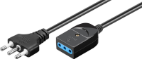 MicroConnect Exstension Power Cord Italy 3m 10 A Plug to 10 A Socket, VDE PE1110830 - eet01