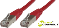 MicroConnect S/FTP CAT6 1.5m Red LSZH PiMF (Pairs in metal foil) SSTP6015R - eet01