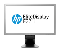 "Hp E271i 27"" Led Backlit Ips 16:9 Monitor Silver - (1920x1080)ha/ti/sw/pi/vesa/dp/vga/dvi-d D7z72at - xep01"