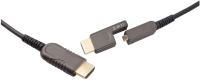 MicroConnect Premium Optic HDMI A-D Cable With HDMI Type A Adapter 100m HDM1919100V2.0DOP - eet01