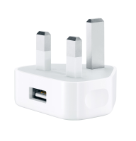 Apple Apple 5w Usb Power Adapter Uk White - #apple For Iphone/ipad Without Lightning Cable Md812b/c - xep01