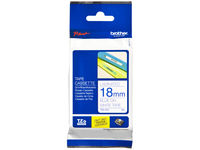 Brother Tape Blue on White 18mm  TZE243 - eet01