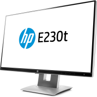 "Hp E230t 23"" Touch Narrow Bezel Ips Monitor Black - (1920x1080)/ha/ti/pi/vga/dp/hdcp/hdmi/vesa W2z50at - xep01"