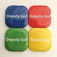 32mm Square Button Badge - Deputy Girl