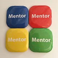 32mm Square Button Badge - Mentor