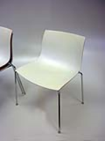 Arper White Shell Stacking Canteen Chairs