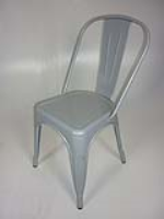 Light Grey Talix Style Metal Caf Chairs