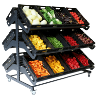 1600mm Double Sided Mobile Fruit and Vegetable Display