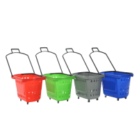 45L Rolling Shopping Baskets