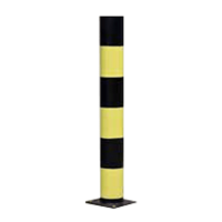 Black and Yellow Potted Bollard