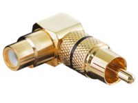 AUDCCA MicroConnect Audio Adaptor RCA - RCA  M-F Gold plated, right angled - eet01
