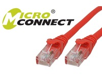 MicroConnect U/UTP CAT6 5M Red Snagless Unshielded Network Cable, UTP605RBOOTED - eet01