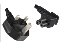 MicroConnect Power Cord UK - Angled C5 1.8m Black, PE090818A - eet01