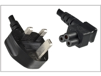 MicroConnect Power Cord UK / C5 Angled 5m Power UK Type G to C5 Angled PE090850A - eet01