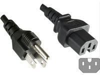 MicroConnect Power Cord US - C15 1.8m Power US Type B to C15 PE110618 - eet01