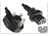 MicroConnect Power Cord UK -  C15 2m Black Power UK BS-1363 - C15 PE090420C15 - eet01