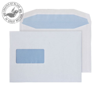 9808 Blake Purely Everyday White Window Gummed Mailer 162X238mm 100Gm2 Pack 500 Code 9808 3P- 9808