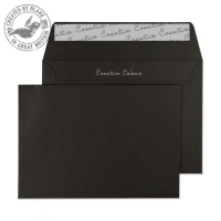 114 Blake Creative Colour Jet Black Peel & Seal Wallet 114X162mm 120Gm2 Pack 500 Code 114 3P- 114
