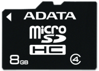 ADATA 8GB MICRO SD Class 4 Retail, (w/o Adapter) AUSDH8GCL4-R - eet01