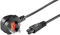 MicroConnect Power Cord UK - C5 1m Black Power UK Type G to C5 PE090810 - eet01