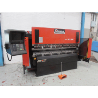 AMADA APX 80-2500 80 ton x 2500mm 6 Axis Hydraulic Upstroke CNC Press Brake. Manufactured 1998, Hours 33795