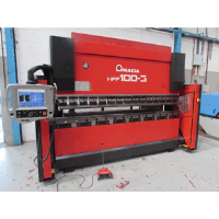 AMADA HFP 100-3 100 ton x 3000mm Hydraulic Downstroke CNC Press Brake. With AMNC 8 Axis Controller.Hours 7911, Manufactured 2004