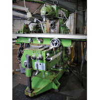 AJAX AJRH 2000 Ram Head Milling Machine. With Newall DP7 Digital Readout. Angular Adjustable X = 1300mm, Y = 430mm, Z = 470mm. Rapid Traverse. ISO50 Spindle Tooling. Spindle Speeds 28 - 1400, Universal Head speeds 36 - 2000.