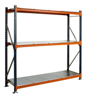 1200mm Galvanised Longspan Shelving Starter Bay