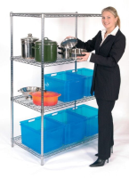 1500mm Chrome Wire Hygienic Shelving System