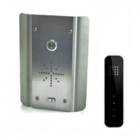 AES Slim HF-AS Stainless Wired, Hands Free Intercom (Black Handset)