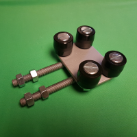 Sliding Gate Adjustable Top Guide Roller Plate with 4 rollers