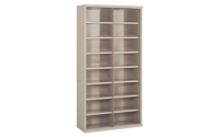 16 Compartment High Density Steel Shelving Bay
