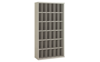 36 Compartment High Density Steel Shelving Bay