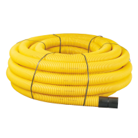 Yellow Perforated Gas Duct Pipe