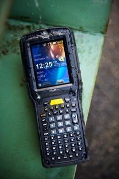 Psion mobile data collection terminals in Exeter