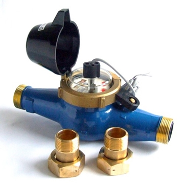 """1/2""""-2"""" BSP Turbine Water Meter With Pulse Output Optional"""