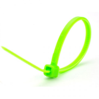 CABLE TIE 200 X 4.8 NEON GREEN PK 100