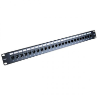 Excel CAT5E 1u 24 Port Through Coupler Patch Panel Black
