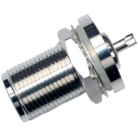 N Bulkhead Receptacle Solder Spill SILVER PLATED