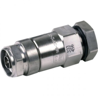 """NM-SCF38-D01N Male Connector for 3/8"""" Coaxial Cable, OMNI FIT?Premium, Straight, threaded gasket and 360° compression sealing"""