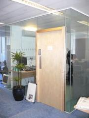 Opaque office partitions