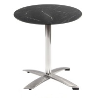 Black Marble Table With Alu Flip Top Base Outdoor