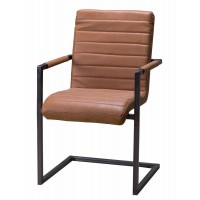 Industrial Style Upholstered Leather Chair