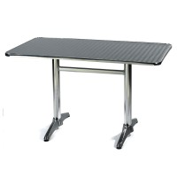 Outdoor Table Stainless Steel Top Aluminium Base 2474