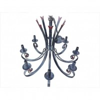 Red Tipped Curly Chandelier
