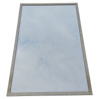 Used Decorative Rectangle Silver Framed Mirrors 3996