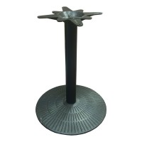 Used Heavy Cast Iron Round Table Base Dining Height