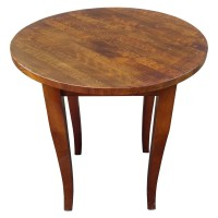 Used Round Solid Wood Table 69Cm Diameter